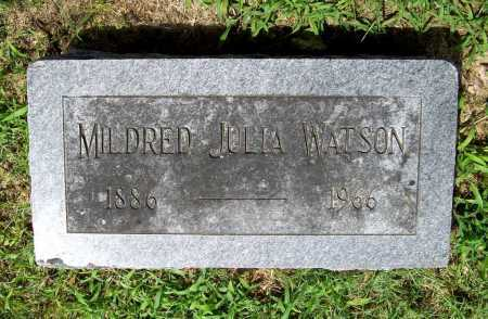 WATSON, MILDRED JULIA - Benton County, Arkansas | MILDRED JULIA WATSON - Arkansas Gravestone Photos