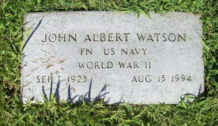 WATSON (VETERAN WWII), JOHN ALBERT - Benton County, Arkansas | JOHN ALBERT WATSON (VETERAN WWII) - Arkansas Gravestone Photos