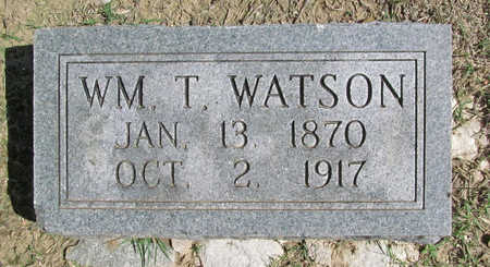 WATSON, WILLIAM T - Benton County, Arkansas | WILLIAM T WATSON - Arkansas Gravestone Photos
