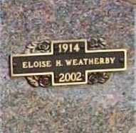 WEATHERBY, ELOISE - Benton County, Arkansas | ELOISE WEATHERBY - Arkansas Gravestone Photos