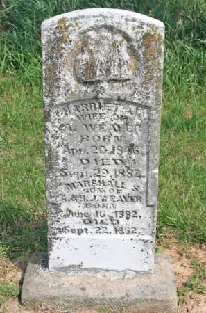 WEAVER, HARRIET J. - Benton County, Arkansas | HARRIET J. WEAVER - Arkansas Gravestone Photos