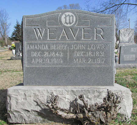 WEAVER, JOHN LOWRY - Benton County, Arkansas | JOHN LOWRY WEAVER - Arkansas Gravestone Photos