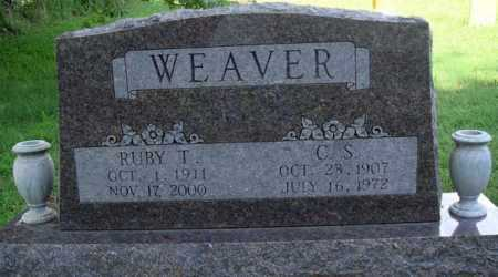 WEAVER, C. S. - Benton County, Arkansas | C. S. WEAVER - Arkansas Gravestone Photos