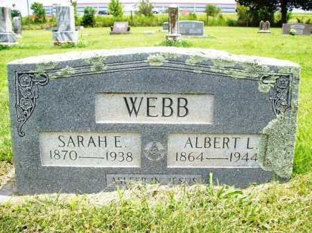 WEBB, SARAH E. - Benton County, Arkansas | SARAH E. WEBB - Arkansas Gravestone Photos