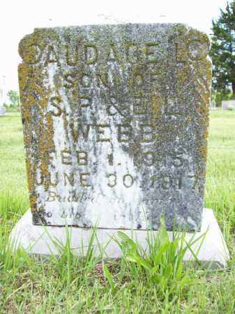 WEBB, AUDAGE L. - Benton County, Arkansas | AUDAGE L. WEBB - Arkansas Gravestone Photos