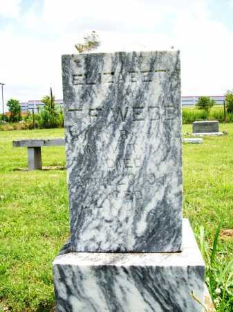 WEBB, ELIZABETH - Benton County, Arkansas | ELIZABETH WEBB - Arkansas Gravestone Photos