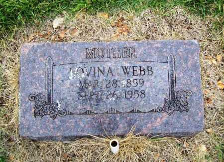 WEBB, LOVINA - Benton County, Arkansas | LOVINA WEBB - Arkansas Gravestone Photos