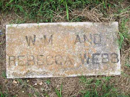 WEBB, W. M. - Benton County, Arkansas | W. M. WEBB - Arkansas Gravestone Photos