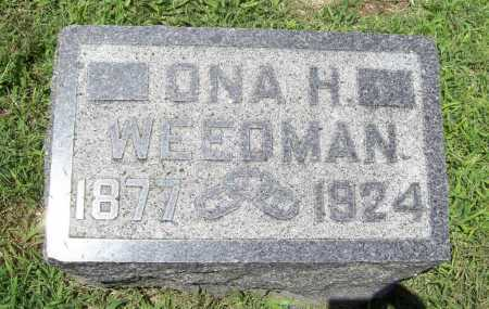 WEEDMAN, ONA H. - Benton County, Arkansas | ONA H. WEEDMAN - Arkansas Gravestone Photos