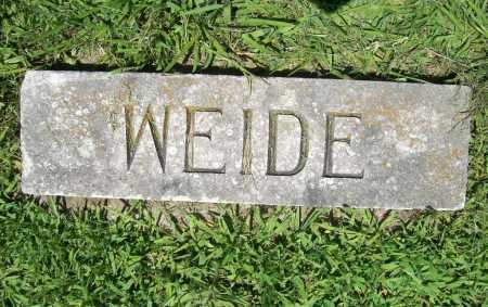 WEIDE, MARKER - Benton County, Arkansas | MARKER WEIDE - Arkansas Gravestone Photos