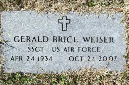 "WEISER (VETERAN), GERALD BRICE ""JERRY"" - Benton County, Arkansas 
