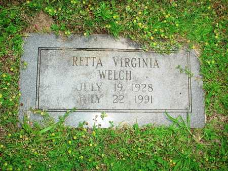 WELCH, RETTA VIRGINIA - Benton County, Arkansas | RETTA VIRGINIA WELCH - Arkansas Gravestone Photos