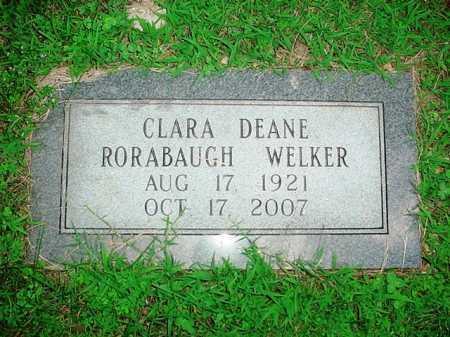 RORABAUGH WELKER, CLARA DEANE - Benton County, Arkansas | CLARA DEANE RORABAUGH WELKER - Arkansas Gravestone Photos
