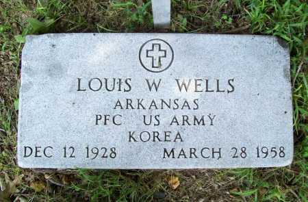 WELLS (VETERAN KOR), LOUIS W. - Benton County, Arkansas | LOUIS W. WELLS (VETERAN KOR) - Arkansas Gravestone Photos
