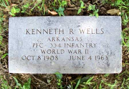 WELLS (VETERAN WWII), KENNETH R. - Benton County, Arkansas | KENNETH R. WELLS (VETERAN WWII) - Arkansas Gravestone Photos