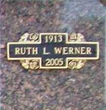 WERNER, RUTH L. - Benton County, Arkansas | RUTH L. WERNER - Arkansas Gravestone Photos