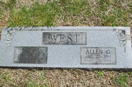 WEST, ALLEN G. - Benton County, Arkansas | ALLEN G. WEST - Arkansas Gravestone Photos