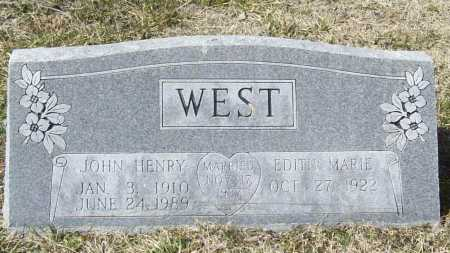 WEST, JOHN HENRY - Benton County, Arkansas | JOHN HENRY WEST - Arkansas Gravestone Photos