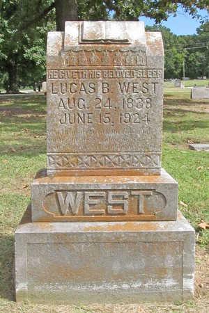 WEST, LUCAS B - Benton County, Arkansas | LUCAS B WEST - Arkansas Gravestone Photos