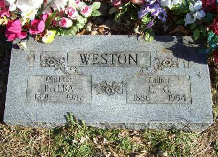 WESTON, PHEBA - Benton County, Arkansas | PHEBA WESTON - Arkansas Gravestone Photos