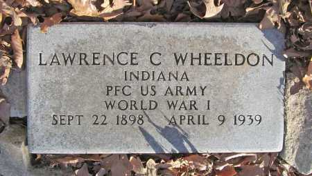 WHEELDON (VETERAN WWI), LAWRENCE C - Benton County, Arkansas | LAWRENCE C WHEELDON (VETERAN WWI) - Arkansas Gravestone Photos