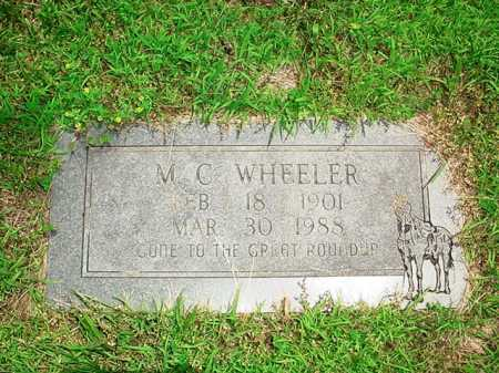 WHEELER, M. C. - Benton County, Arkansas | M. C. WHEELER - Arkansas Gravestone Photos