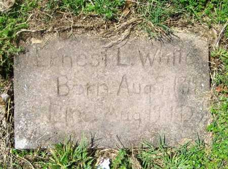 WHITE, ERNEST L. - Benton County, Arkansas | ERNEST L. WHITE - Arkansas Gravestone Photos