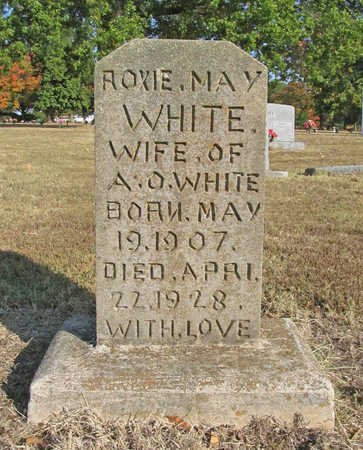 WHITE, ROXIE MAY - Benton County, Arkansas | ROXIE MAY WHITE - Arkansas Gravestone Photos