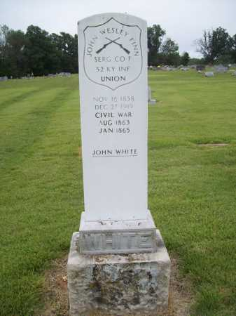 WHITE (VETERAN UNION), JOHN WESLEY FINN - Benton County, Arkansas | JOHN WESLEY FINN WHITE (VETERAN UNION) - Arkansas Gravestone Photos