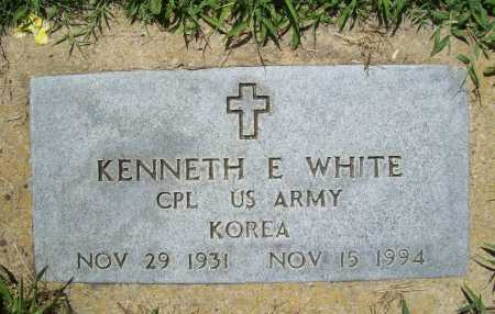 WHITE (VETERAN KOR), KENNETH E. - Benton County, Arkansas | KENNETH E. WHITE (VETERAN KOR) - Arkansas Gravestone Photos
