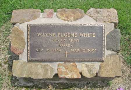 WHITE (VETERAN KOR), WAYNE EUGENE - Benton County, Arkansas | WAYNE EUGENE WHITE (VETERAN KOR) - Arkansas Gravestone Photos