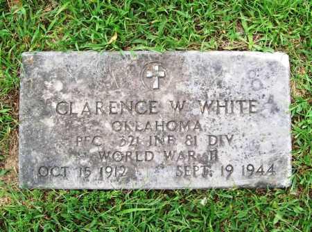 WHITE (VETERAN WWII), CLARENCE W - Benton County, Arkansas | CLARENCE W WHITE (VETERAN WWII) - Arkansas Gravestone Photos