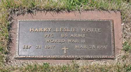 WHITE (VETERAN WWII), HARRY LESLIE - Benton County, Arkansas | HARRY LESLIE WHITE (VETERAN WWII) - Arkansas Gravestone Photos