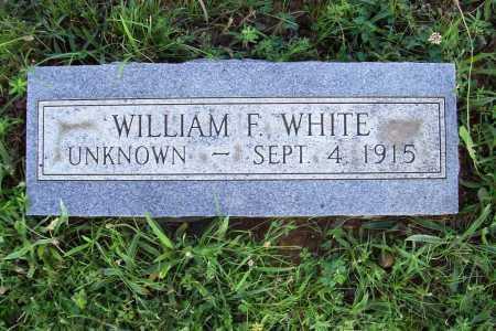 WHITE, WILLIAM F. - Benton County, Arkansas | WILLIAM F. WHITE - Arkansas Gravestone Photos