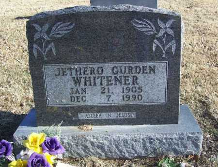 WHITENER, JETHERO GURDEN - Benton County, Arkansas | JETHERO GURDEN WHITENER - Arkansas Gravestone Photos