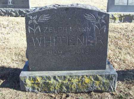 WHITENER, ZELPHA ANN - Benton County, Arkansas | ZELPHA ANN WHITENER - Arkansas Gravestone Photos