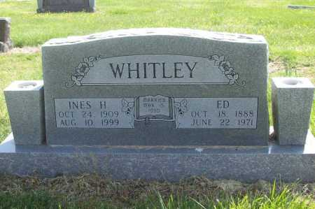 WHITLEY, INES H. - Benton County, Arkansas | INES H. WHITLEY - Arkansas Gravestone Photos