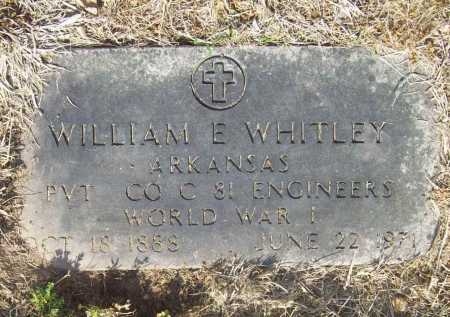 WHITLEY (VETERAN WWI), WILLIAM EDWARD - Benton County, Arkansas | WILLIAM EDWARD WHITLEY (VETERAN WWI) - Arkansas Gravestone Photos