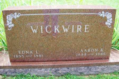 WICKWIRE, AARON K. - Benton County, Arkansas | AARON K. WICKWIRE - Arkansas Gravestone Photos