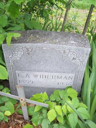 WIDERMAN, E. A. - Benton County, Arkansas | E. A. WIDERMAN - Arkansas Gravestone Photos