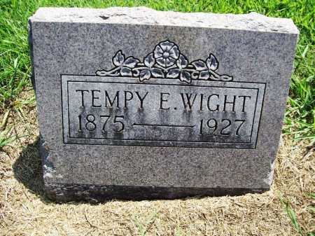 WIGHT, TEMPY E. - Benton County, Arkansas | TEMPY E. WIGHT - Arkansas Gravestone Photos