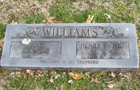 WILLIAMS, ANNIE - Benton County, Arkansas | ANNIE WILLIAMS - Arkansas Gravestone Photos