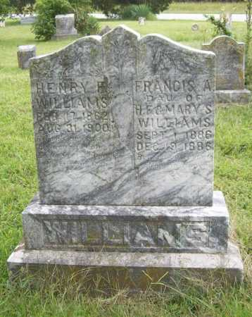 WILLIAMS, FRANCIS A. - Benton County, Arkansas | FRANCIS A. WILLIAMS - Arkansas Gravestone Photos