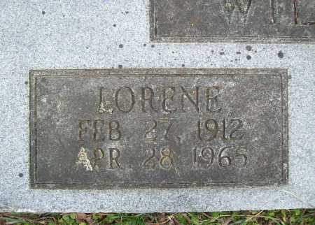 WILLIAMS, LORENE (CLOSEUP) - Benton County, Arkansas | LORENE (CLOSEUP) WILLIAMS - Arkansas Gravestone Photos