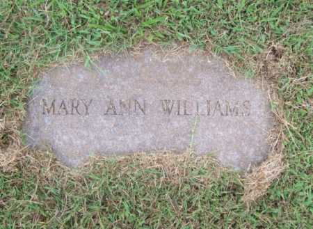 WILLIAMS, MARY ANN - Benton County, Arkansas | MARY ANN WILLIAMS - Arkansas Gravestone Photos