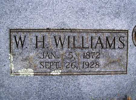 WILLIAMS, W. H. - Benton County, Arkansas | W. H. WILLIAMS - Arkansas Gravestone Photos