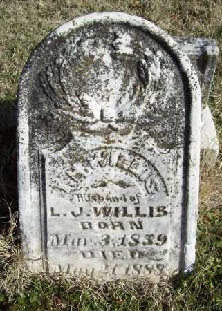 WILLIS, J H - Benton County, Arkansas | J H WILLIS - Arkansas Gravestone Photos