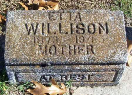 WILLISON, ETTA - Benton County, Arkansas | ETTA WILLISON - Arkansas Gravestone Photos