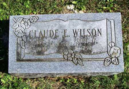 WILSON, CLAUDE E. - Benton County, Arkansas | CLAUDE E. WILSON - Arkansas Gravestone Photos