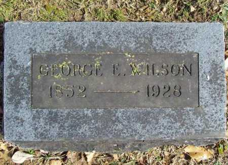 WILSON, GEORGE E. - Benton County, Arkansas | GEORGE E. WILSON - Arkansas Gravestone Photos